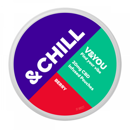 CBD pouches &CHILL Berry 20 mg-sachet